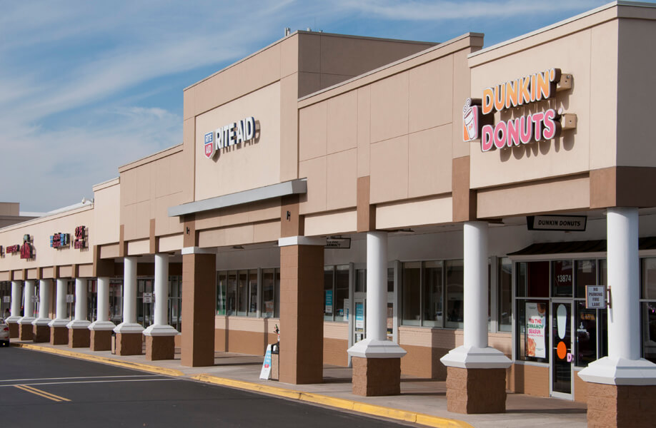 Strip center with Rite Aid and Dunkin