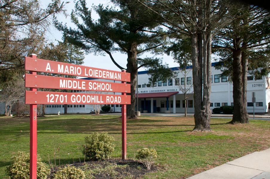 A. Mario Loiederman Middle School exterior
